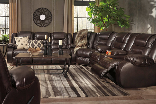3PC VACHERIE SECTIONAL IN CHOCOLATE-79307-88-77-94