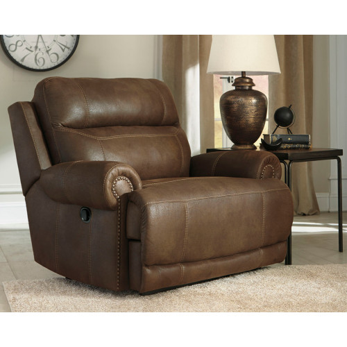 AUSTERE BROWN Wide Seat Recliner