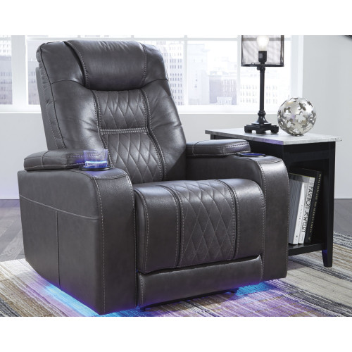 COMPOSER GRAY Power Recliner with Adjustable Headrest