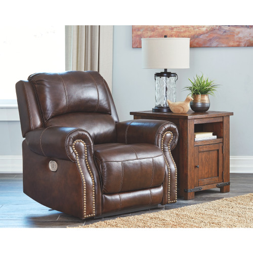 BUNCRANA CHOCOLATE PWR Recliner/ADJ Headrest