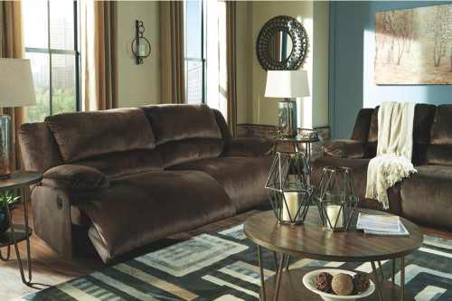2 PC CLONMEL CHOCOLATE SOFA AND LOVESEAT RECLINING SET