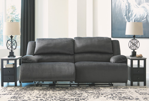 2 PC STONELANE FOSSIL SOFA AND LOVESEAT RECLINING SET