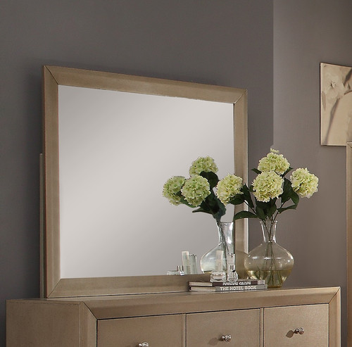 FOUNTAIN COLLECTION DRESSER TOP - MIRROR IN CHAMPAGNE COLOR