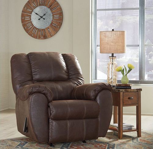 McGann Walnut Rocker Recliner