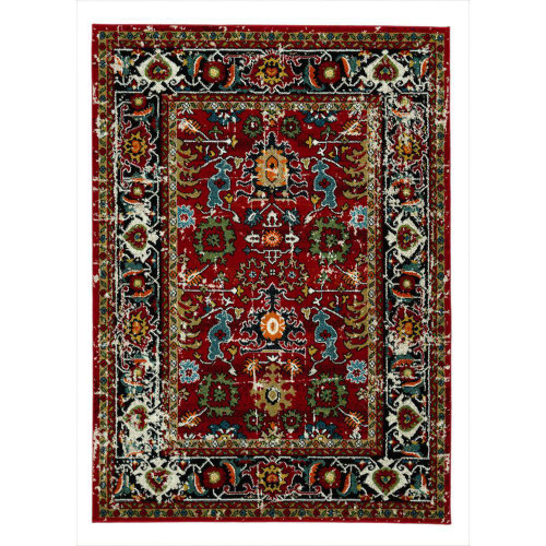 City Mahal Red Area Rug