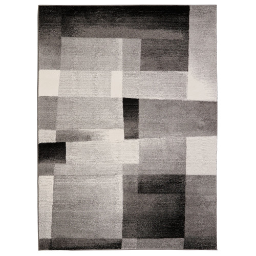 City Tiles White/Black Area Rug