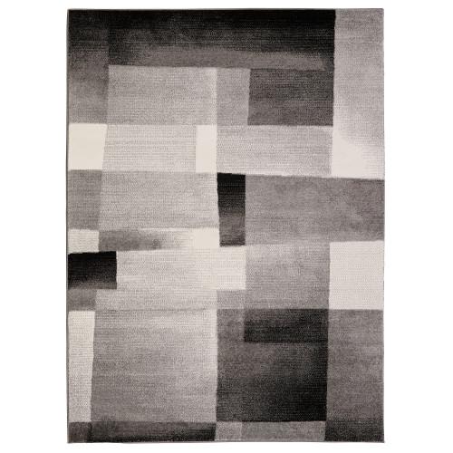 City Tiles White/Black Area Rug