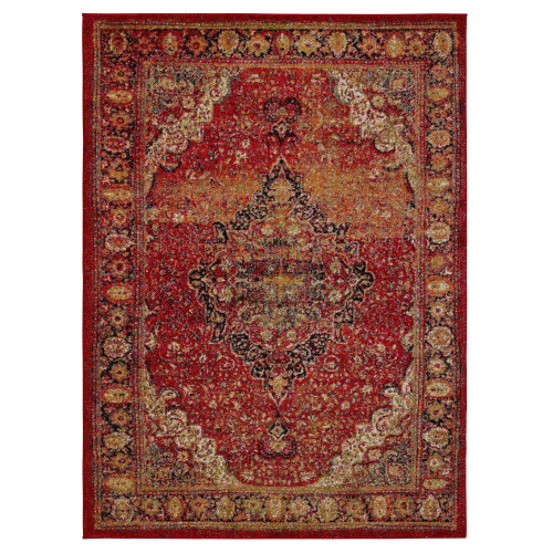 City Antique Red Area Rug