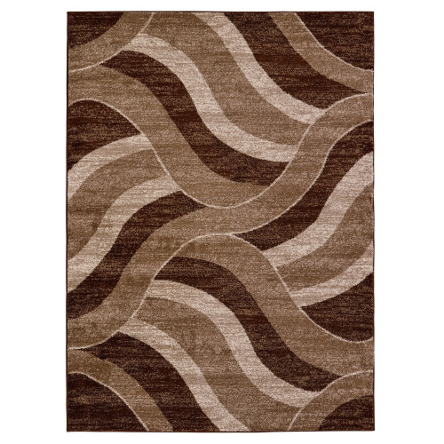 City Waves Brown/Beige Area Rug