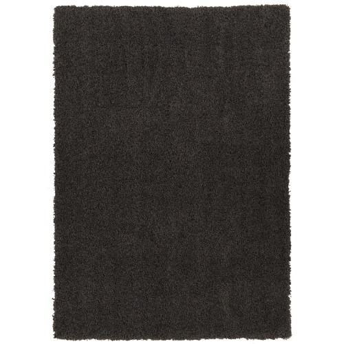 Cozy Solid Dark Grey Shag Area Rug
