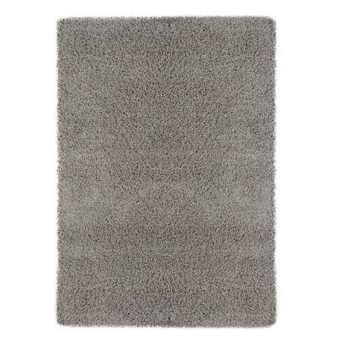Cozy Solid Grey Shag Area Rug