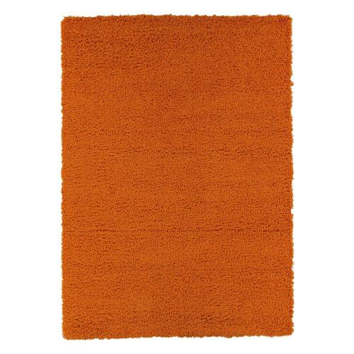 Cozy Solid Orange Shag Area Rug