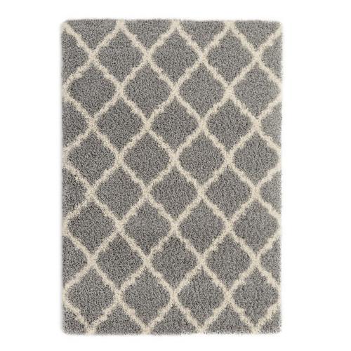 Cozy Moroccan Grey Shag Area Rug