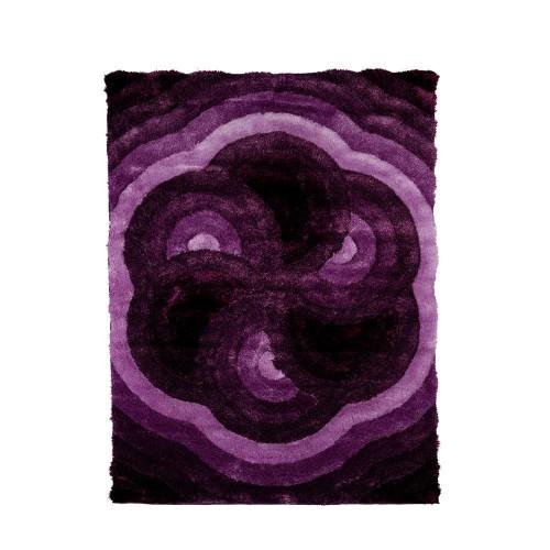 Casa Regina Shag 3D Purple Area Rug