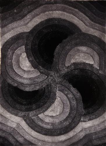 Crown Shag 3D Gray/Black Area Rug
