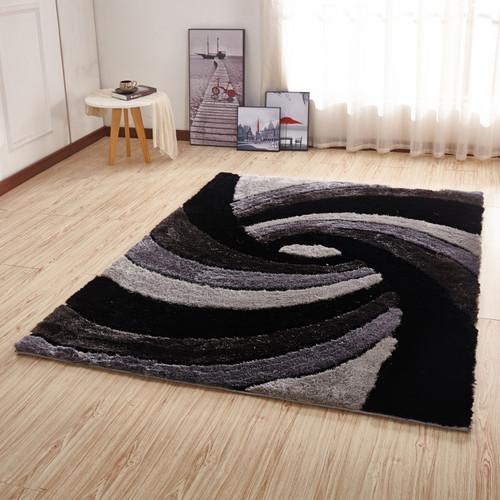 Crown Shag 3D Gray/Black/White Area Rug