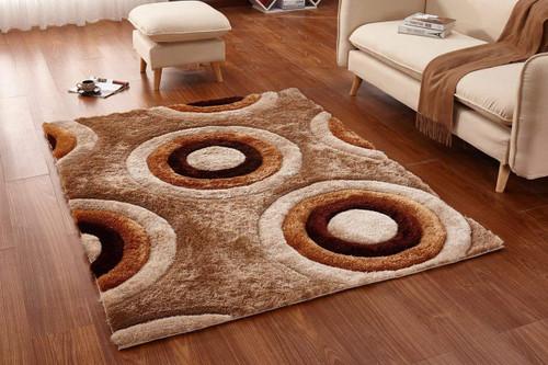 Casa Regina Shag -3D Brown/Beige Area Rug