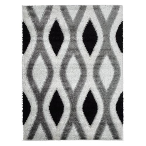 Casa Shag -3D Black/Grey Area Rug