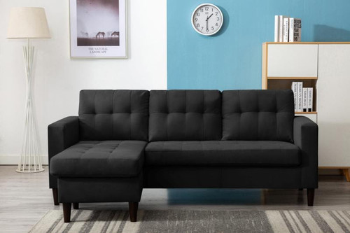 Kingdom Reversible Sectional Gray