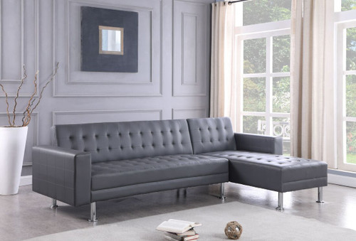 2PC Bobby Reversible Sectional Grey