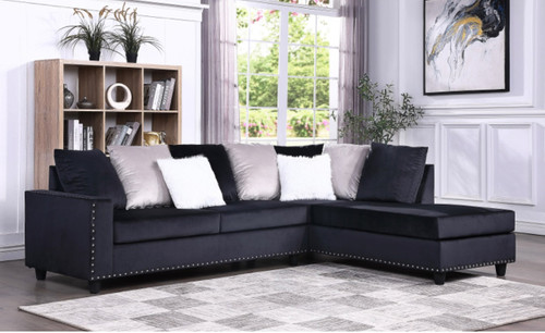 Cindy Reversible Sectional Black