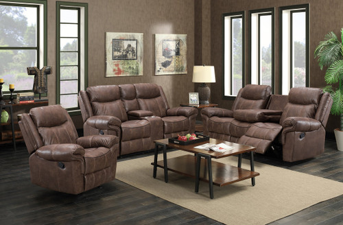 3PC Liberty Collection Reclining Set In Brown
