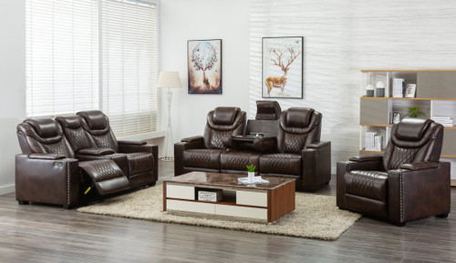 3PC Echo Collection Power Reclining Set In Brown