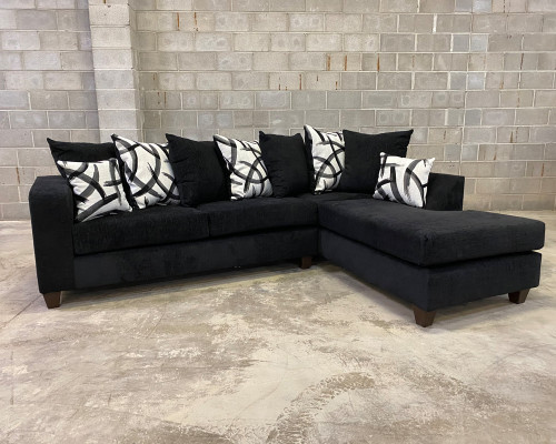 2 Pcs Madison Sectional Sofa In Black Color