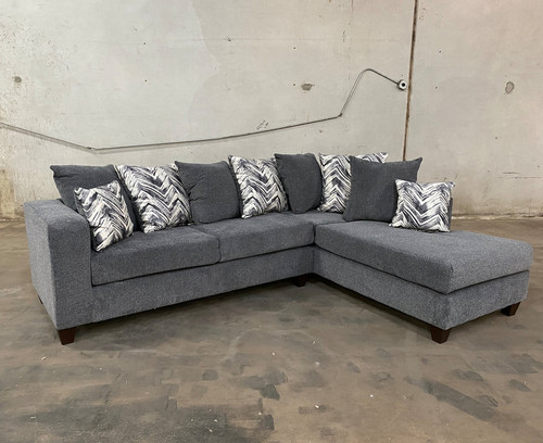 2 Pcs Madison Sectional Sofa In Charcoal Color