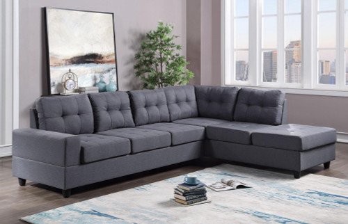 2 Pcs James Reversible Sectional Sofa In Grey Color