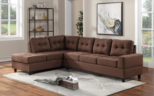 2 Pcs James Reversible Sectional Sofa In Brown Color