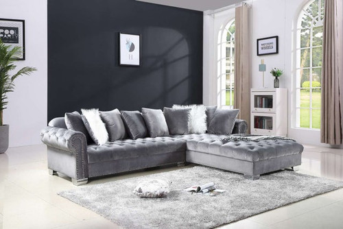 2 Pcs London Oversize Sectional Sofa in Grey Color