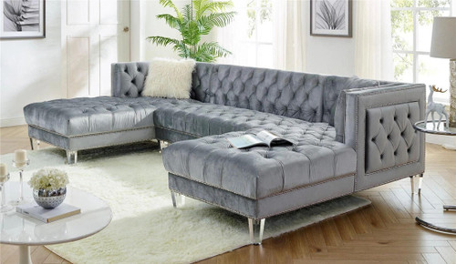 Prada Sectional Sofa In Grey Color