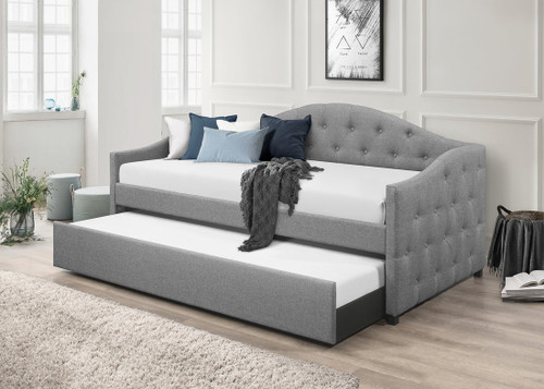 Francis Day Bed with Trundle In Grey Color