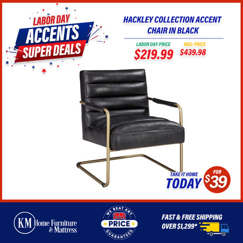 Hackley Collection Accent Chair In Black