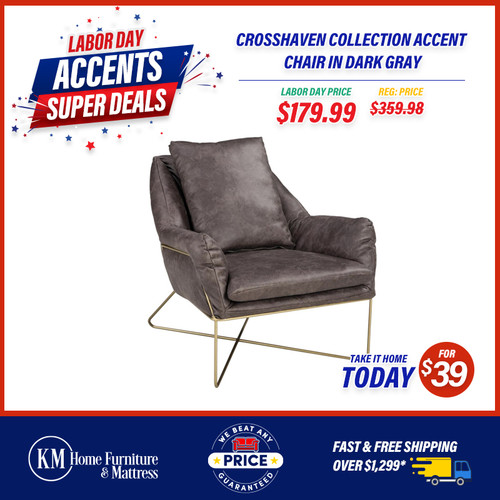 Crosshaven Collection Accent Chair In Dark Gray