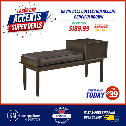 Gavinville Collection Accent Bench In Brown