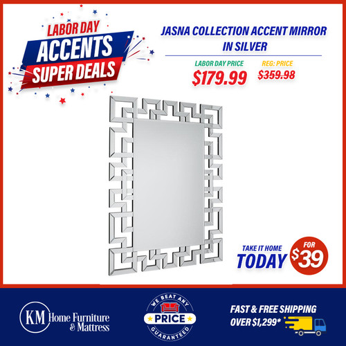 Jasna Collection Accent Mirror In Silver