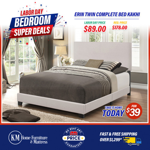 Erin Twin Complete bed Kakhi