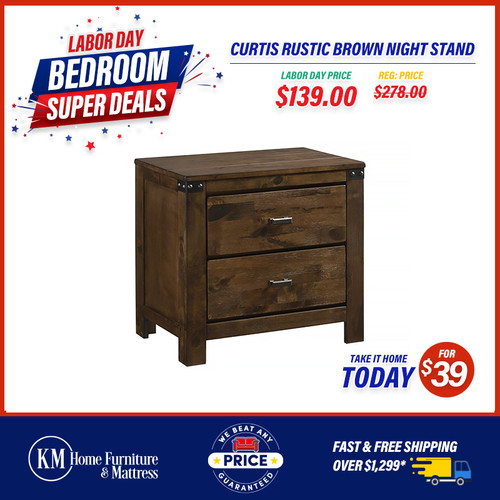 Curtis Rustic Brown Night Stand