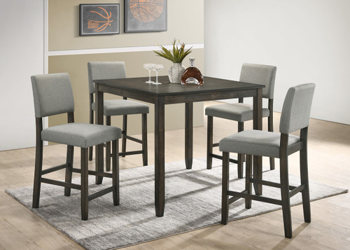 5 Pc Derick Counter Height Table Set Grey Special