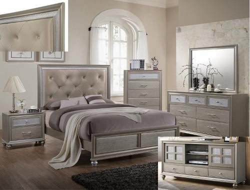 6 Pcs Lila Queen Bedroom Set Special