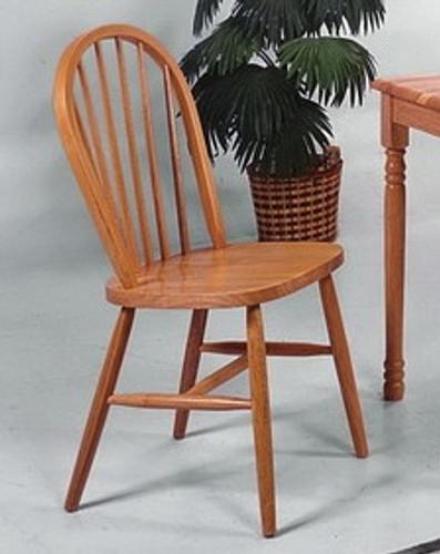 2 Pc Farmhouse Light Oak Dining Chair Set Special