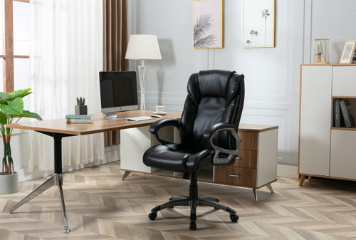 Office Chair Black Bonded Leather