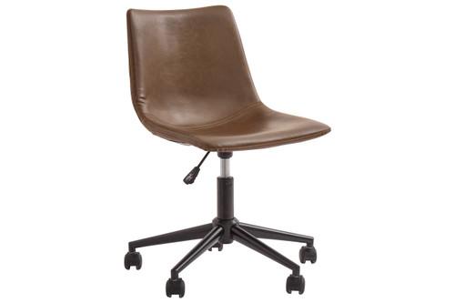 Brown Swivel Home Office Desk Chair