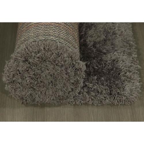 Francesco Sheepskin Solid Dark Gray Area Rug