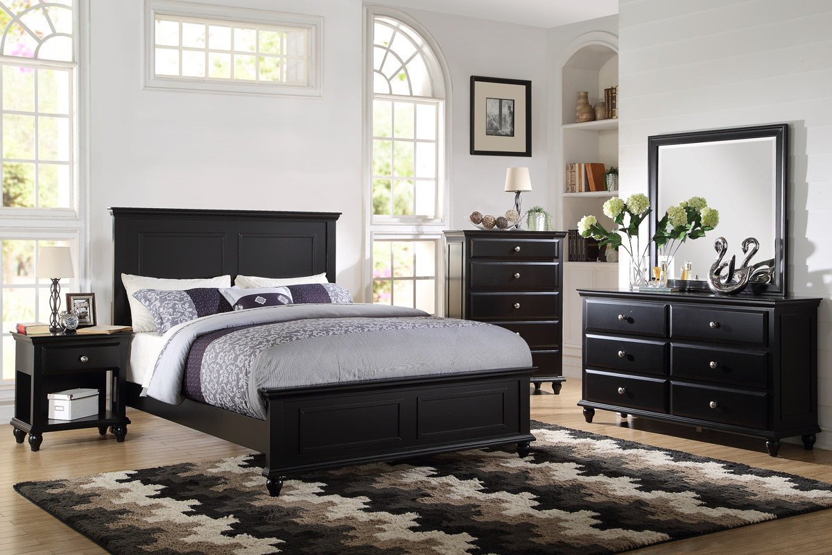 Kassa Mall Home Furniture F9271 Black Queen King Bedframe For