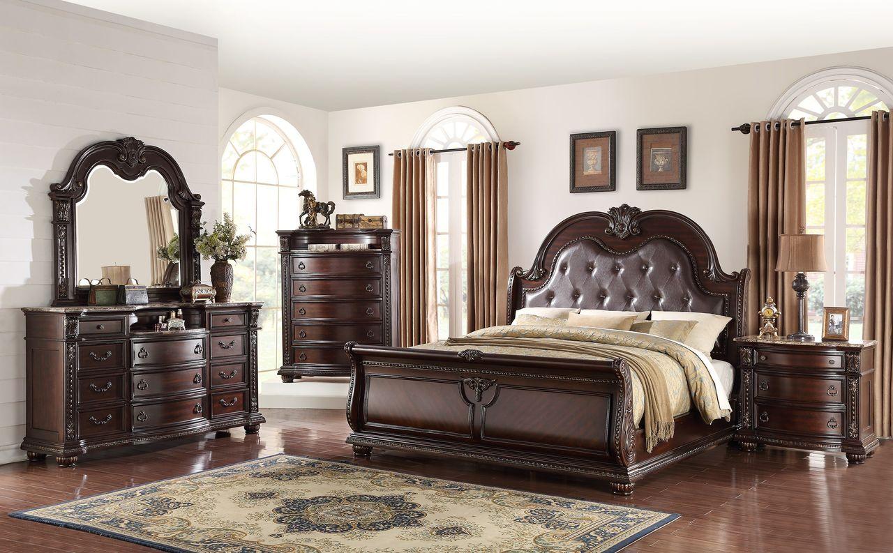 B1600-6 PCS Stanley Bedroom SET By Crown Mark