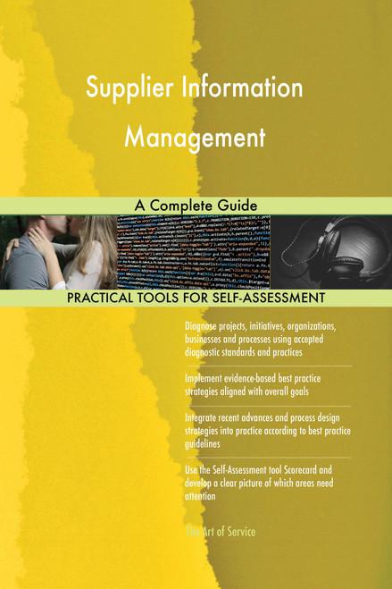 Supplier Information Management A Complete Guide