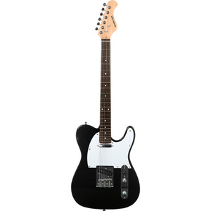Stretton Payne TE Electric Guitar with Padded Bag. Guitar in Black